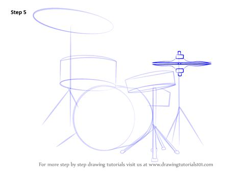 tutorial drums beginner learn how to draw drums musical instruments step by step