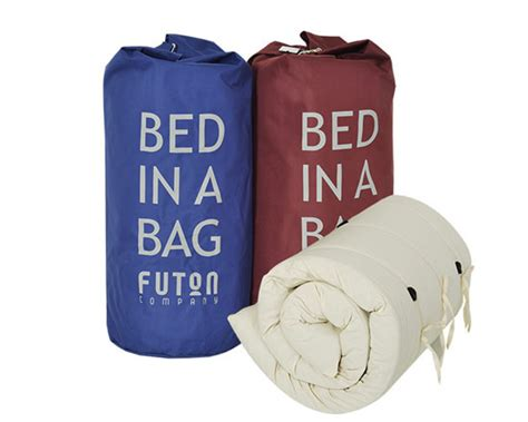 futon in a bag sleepober bed in bag maroon blue attachment experts in