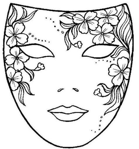 mascaras de carnaval para colorear contuspropiasmanos dibujo m 225 scara de carnaval con flores mascaras carnaval