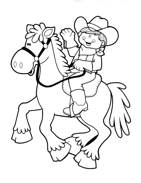 cowboy coloring pages free and printable cowboy coloring pages 5 coloring kids