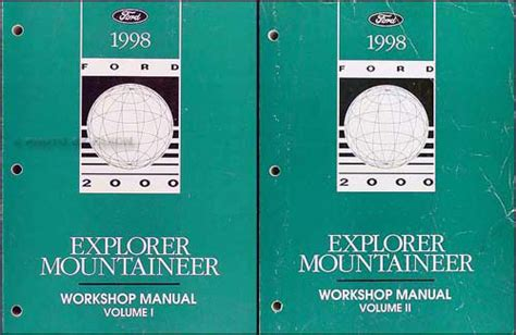 book repair manual 1998 ford club wagon electronic toll collection 1998 ford explorer mountaineer repair shop manual original 2 volume set