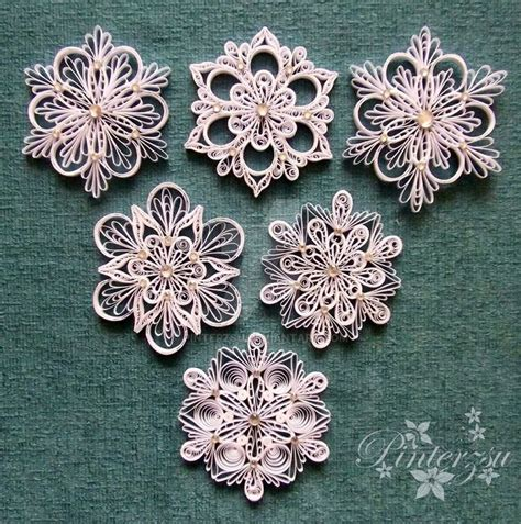 snowflake patterns quilling quilled snowflakes by pinterzsu on deviantart quilling