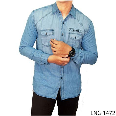 Atasan Soft Denim buy kemeja soft pria lengan panjang banyak model