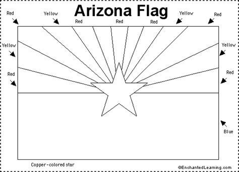 arizona flag printout enchantedlearning com