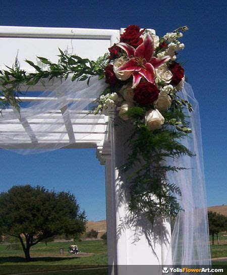 Wedding Arch Arrangement With Tulle by 17 Best Images About Arches On Floral