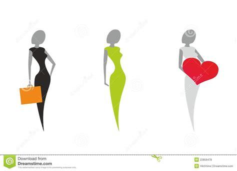 clipart donne siluette stilizzate delle donne insieme dell icona