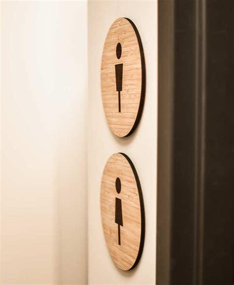 modern bathroom signs modern wood restroom signs contemporary bamboo bathroom