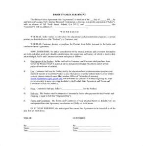 Sle Buy Sell Agreement Template by Sales Agreement Template 10 Free Word Pdf Document