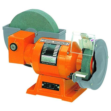 wet bench grinder central machinery 8 quot wet 6 quot dry grinder ebay