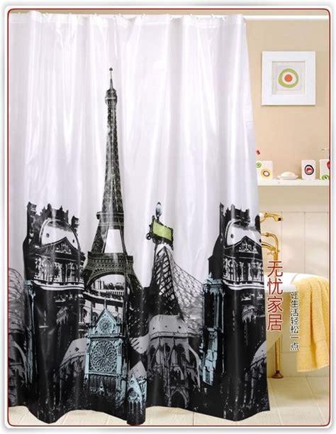 paris shower curtains paris eiffel tower pattern eva shower curtain
