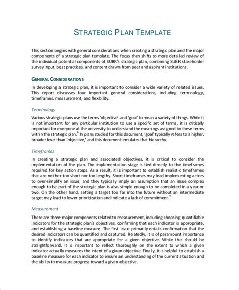 tactical sales plan template 49 exles of strategic plans