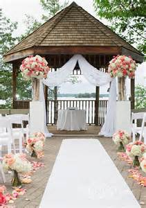 Simple Gazebo Wedding Decorations by 25 Fantastic Outdoor Amp Indoor Wedding Ceremony Altar