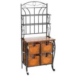 Bakers Rack With Storage Wildon Home 174 Arrington Storage Baker S Rack Amp Reviews