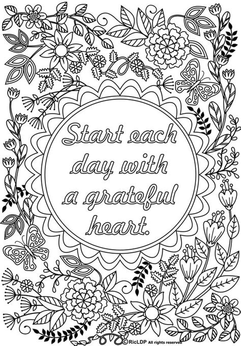 printable coloring quote pages for adults twenty coloring pages for grown ups each day coloring