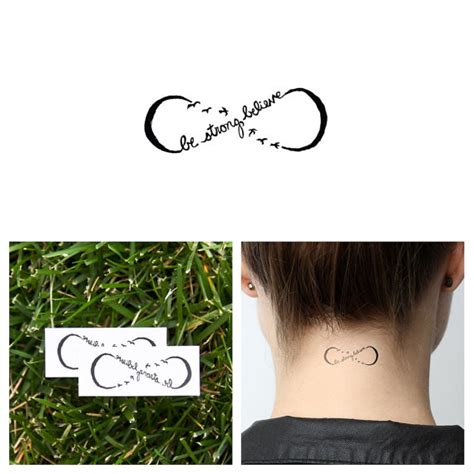 infinity tattoo temporary infinity believe symbol temporary tattoo set of 2