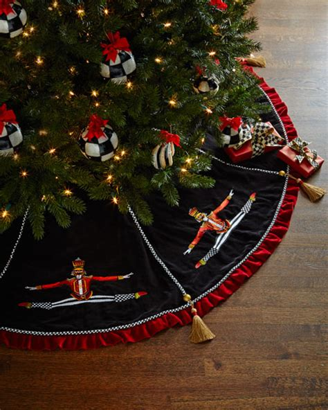 mackenzie childs nutcracker christmas tree skirt