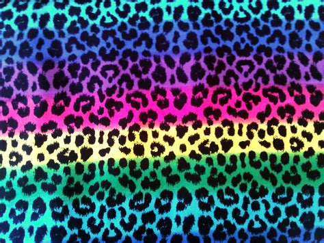 colorful cheetah print 1 yard leopard reinbow fabric 100 cotton funky by jeadore