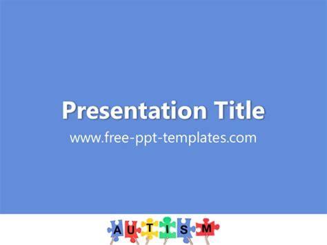 Autism Powerpoint Template Autism Powerpoint Template Free