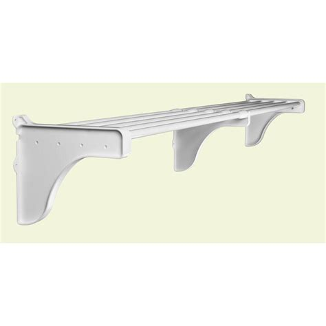 Shelf End Brackets by Ez Shelf 40 In 73 In Expandable Shelf In White With 2