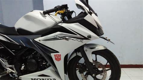 Visor Jenong Cbr150 Facelift modif ringan windshield visor panjang cbr 150 r facelift putih