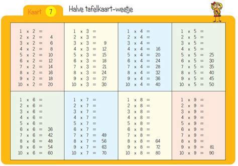 tafels oefenen 6 nieuw tafels oefenen rekenen meesterharrie nl