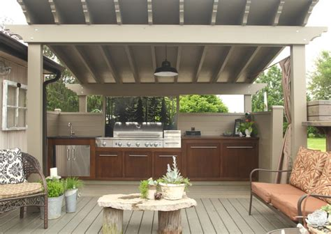 outdoor kitchen contemporary deck other metro by