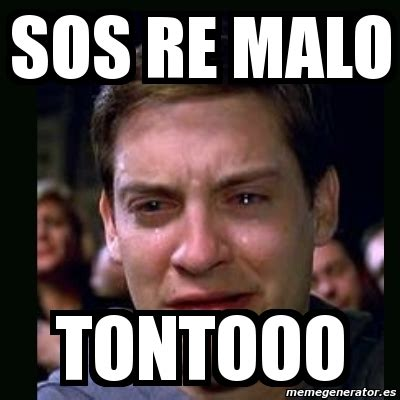 Sos Meme - meme crying peter parker sos re malo tontooo 4914828