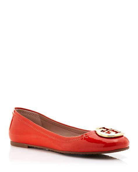 orange shoes flats burch ballet flats reva patent in orange