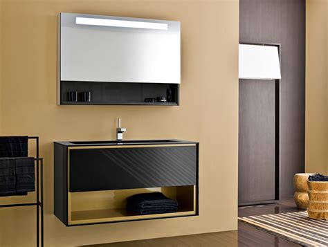Italian Bathroom Vanity Design Ideas Frame Fr6 Modern Italian Designer Vanity In Black Lacquered Wood