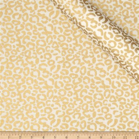 gold fabric jackie heavy metal collection cheetah metallic gold