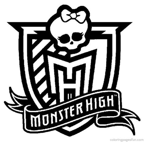 monster high sign coloring pages monster high coloring pages az coloring pages