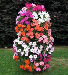 flower tower freestanding vertical planter the green