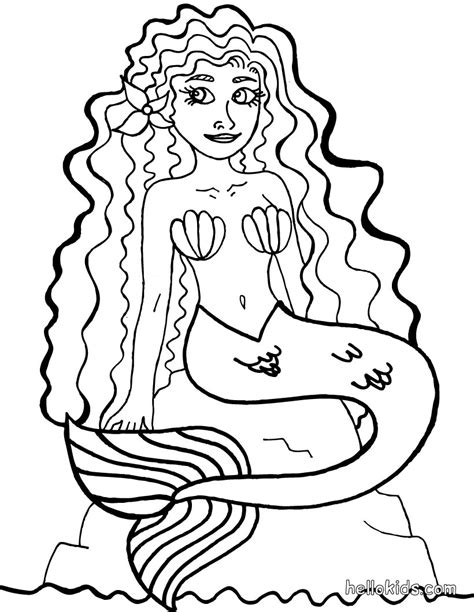 adult mermaid with long hair by lian2011 coloring pages mermaid coloring pages coloringsuite com