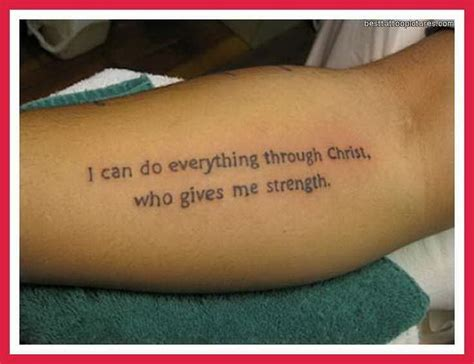good tattoo quotes from the bible verses style