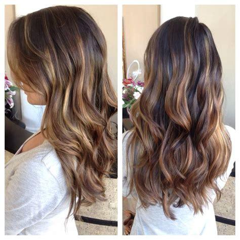 summer highlites for dark hair balayage ombr 233 highlights ash honey blonde long layered