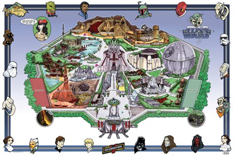r layout land from tomorrowland to star wars land disneyland