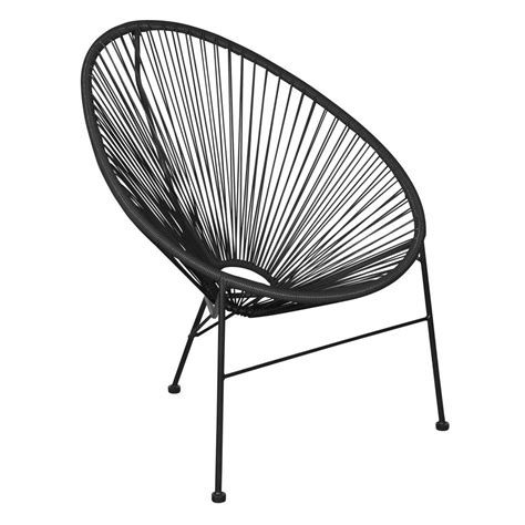 black outdoor lounge chairs buy living outdoor string lounge chair black 625260