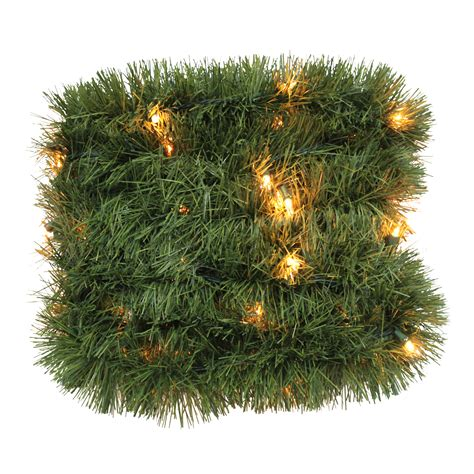 trim a home 174 lighted soft christmas garland with clear