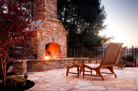 stacked outdoor fireplace out door fireplace by
