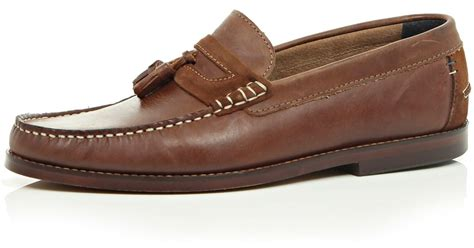 tassel loafers brown river island brown leather tassel loafers in brown for
