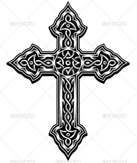 medieval cross tattoo ornate cross vector christian crosses crosses