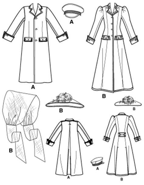 historical pattern review simplicity 2581 misses and men historical costumes
