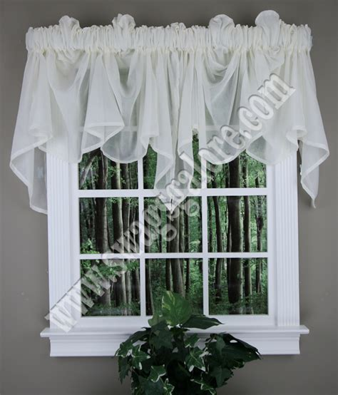 Valances And Swags Splendor Sheer Valance Maize Stylemaster Swag Jabot