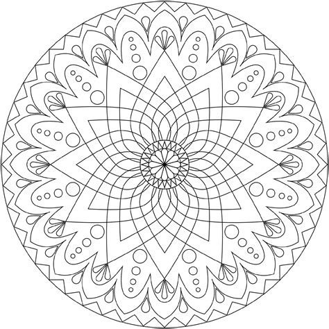 free mandala coloring pages for adults coloring home
