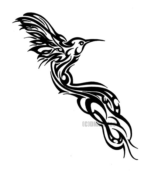 tribal bird tattoos tribal hummingbird tattoos
