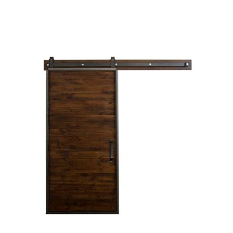 rustica hardware 36 in x 84 in mountain modern stain