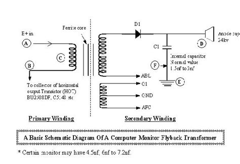 flyback transformer wiring diagram flyback transformer