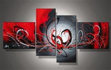 1 Wall Mural tableaux design rouge noir fleur abstraite