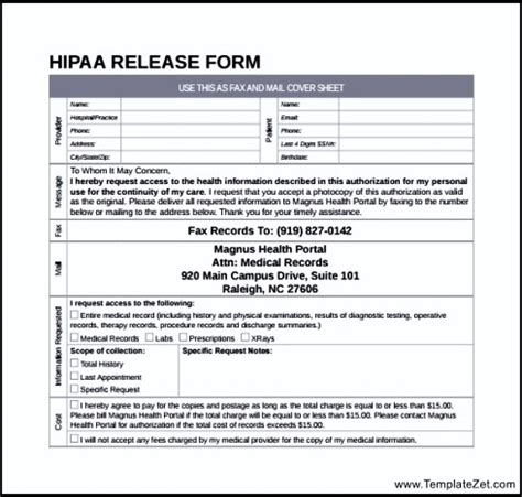 hipaa release forms simple hipaa release form templatezet