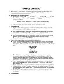 Daycare Contract Template by Scope Of Work Template Daycare Pay Day